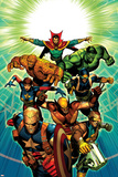 Age of Ultron 7 Cover: Dr Strange  Thing  Hulk  Wolverine  Cable  Nick Fury  Wasp  Star-Lord