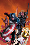 Secret Avengers No211 Cover: Captain America and Hawkeye Running