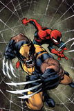 Savage Wolverine 6 Cover: Spider-Man  Wolverine