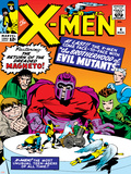 Marvel Comics Retro: The X-Men Comic Book Cover No4  Scarlet Witch  Quicksilver  Toad  Magneto