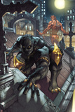 Black Panther: The Man Without Fear No513 Cover: Black Panther and Daredevil Crouching
