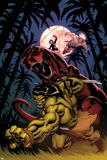Skaar: King of The Savagle Land No2 Cover: Skaar  Devil Dinosaur  Moon Boy  and Ka-Zar