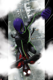 Ultimate Comics Spider-Man No10 Cover: Spider-Man and Prowler Fighting