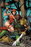 Herc No10 Cover: Elektra and Hercules Fighting