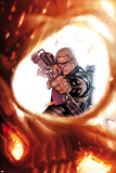 Ghost Rider No7 Cover: Hawkeye Shooting a Bow and Arrow  Seen in a Reflection