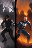 Captain America No619 Cover: Winter Soldier and Steve Rogers Standing Ready