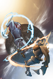 The Mighty Thor No10 Cover: Tanarus and Heimdall