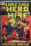 Marvel Comics Retro: Luke Cage  Hero for Hire Comic Book Cover No1  Origin (aged)