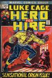 Marvel Comics Retro: Luke Cage  Hero for Hire Comic Book Cover No1  Origin (aged)