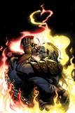 Ghost Rider No4 Cover: Ghost Rider Hugging  Kissing  and Flaming