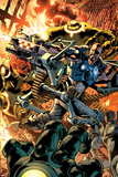 Ultimate Doom No1 Cover: Nick Fury Fighting