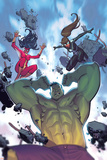 Avengers Assemble 22 Cover: Hulk  Spider Women  Spider-Girl