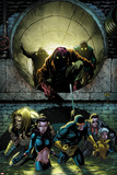 X-Men Forever 2 No5 Cover: Sabretooth  Kitty Pryde  Cyclops  Storm  and Gambit Walking