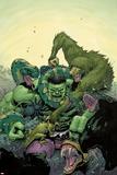 Incredible Hulk No4 Cover: Hulk Fighting