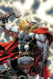 The Mighty Thor No11 Cover: Thor Standing with Mjonir