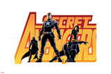 Secret Avengers No16 Cover: Steve Rogers  Beast  Black Widow  and Moon Knight