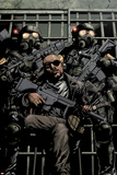 Ultimate Avengers vs New Ultimates No1: Nick Fury with Guns in Jail