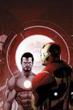 Invincible Iron Man No503 Cover: Iron Man and Tony Stark