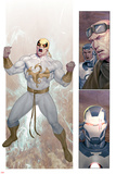 Iron Man 20 No7: Panels with Iron Fist