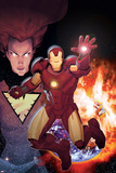 Iron Age: Alpha No1 Cover: Iron Man in front of a Planetary Explosion