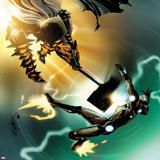 Invincible Iron Man No505 Cover: Iron Man and Grey Gargolye Fighting