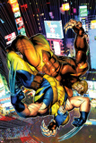 Wolverine No303 Cover: Sabretooth and Wolverine Fighting