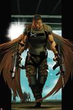 Ultimate Comics Ultimates No7 Cover: Falcon Walking