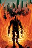 Daken: Dark Wolverine No21 Cover: Walking Flaming