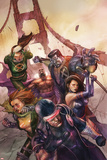 X-Men Legacy No242 Cover: Cyclops  Colossus  Rogue  Magneto and Others on the Golden Gate Bridge
