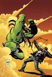 Marvel Universe vs The Punisher No2 Cover: Hulk Fighting Punisher