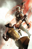 X-Men No2 Cover: Wolverine and Blade Fighting