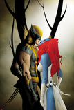 Wolverine No9 Cover: Wolverine and Mystique Kissing
