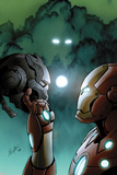 Iron Man 20 No3 Cover: Iron Man Holding the Head of Another