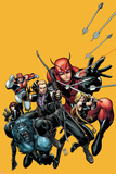 Secret Avengers No22 Cover: Hawkeye  Beast  Valkyrie  Black Widow  Giant Man  and Captain Britain