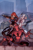 The Amazing Spider-Man No685 Cover: Spider-Man  Black Widow  and Silver Sable
