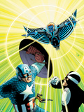 Uncanny Avengers 13 Cover: Captain America  Havok  Wasp  Banshee