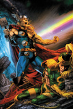 Thor: First Thunder No5 Cover: Thor Screaming as Loki is on the Ground