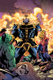 Avengers & The Infinity Gauntlet No2 Cover: Thanos  Hulk  Spider-Man  Ms Marvel  and Dr Doom
