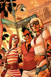 Daken: Dark Wolverine No10 Cover: Daken with his Arms around Ladies