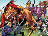 Avengers Academy No25: Hawkeye  X-23  Mettle  Giant Man  Reptil  Hazmat  Tigra  and Others