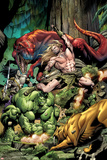 Incredible Hulks No623 Cover: Ka-Zar and Hulk Fighting