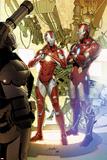 Invincible Iron Man No29 Cover: Iron Man and Rescue