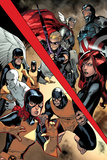 All-New X-Men 8 Cover: Hawkeye  Thor  Captain America  Black Widow  Angel  Cyclops  Iceman  Beast