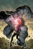 Ultimate X No5 Cover: Jean Grey and Hulk Fighting