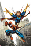 Marvel Adventures Spider-Man No16 Cover: Spider-Man and DrStrange in the City Sky