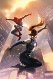 Spider-Girl No8 Cover: Spider-Girl and Spider-Man Jumping