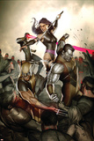 X-Men No231 Cover: Wolverine  Colossus  Psylocke and Cyclops