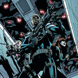 Secret Avengers 12 Cover: Nick Fury  Black Widow  Hawkeye