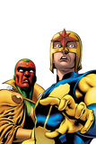 Marvel Adventures Super Heroes No9 Cover: Nova and Vision Standing