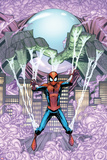 Marvel Adventures Spider-Man No14 Cover: Mysterio Trapping Spider-Man